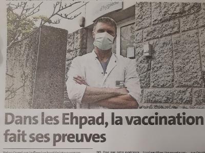 Dans les Ehpad, la vaccination fait ses preuves